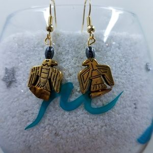 Eagle beaded earrings